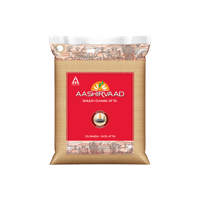 Aashirvaad Whole Wheat Atta (20 Lb)