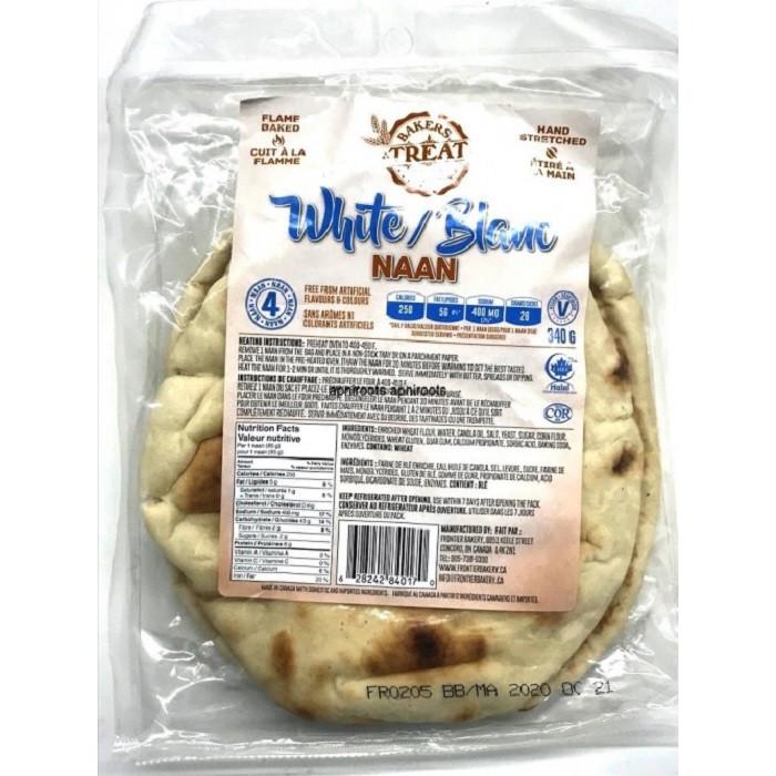 BAKER'S TREAT Plain White Naan (4*85gm)