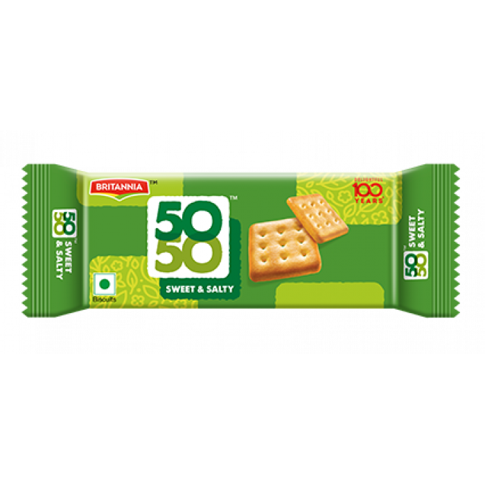 Britannia Fifty-Fifty (50-50) Biscuit (62 Gm)