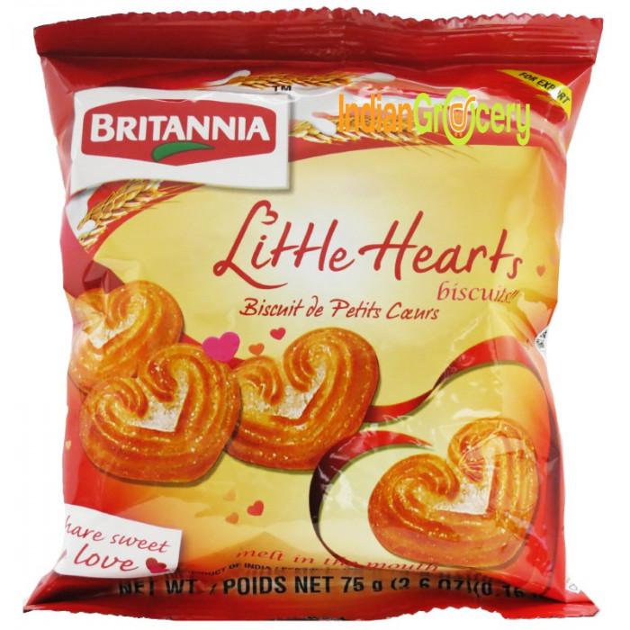 Britannia Little Heart Biscuits (75 Gm)