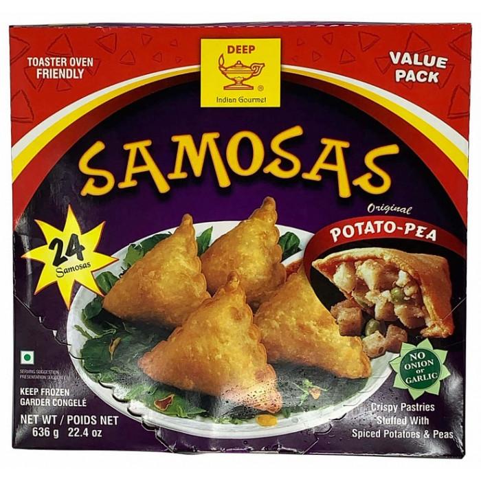 DEEP 24 Party Veg. Samosa Value Pack (24 Pcs)