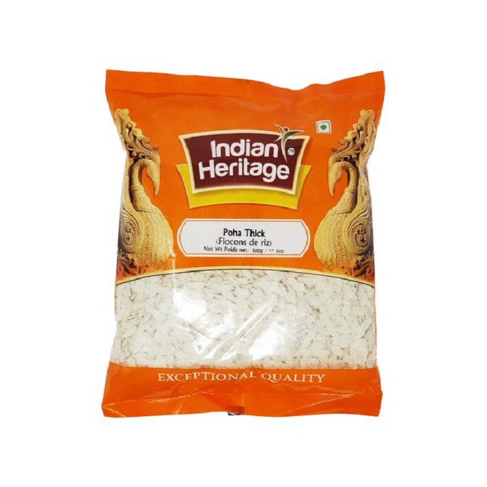Indian Heritage Poha Thick/Flattened Rice (500 Gm)