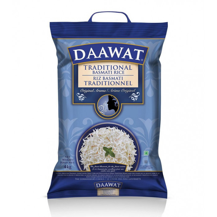 Daawat Traditional Basmati Rice (4.54 Kg)